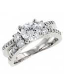 Round Prong Set Diamond Engagement Ring