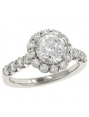 Round Bead Set Diamond Engagement Ring