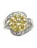 Fancy Brownish Yellow Diamond Engagement Ring